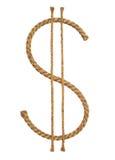 Manila rope. Icon Dolar. Stock Photo