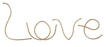 Manila rope. Love Stock Image