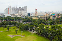 Manila Skyline with City Hall Royalty Free Stock Photo
