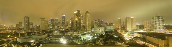 Manila skyline at night Stock Images