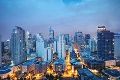 Manila-Skyline, Philippinen Stockbild