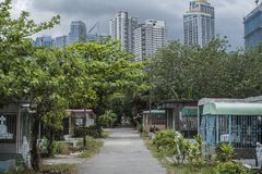Manila South Cemetery in Makati, the Philippines.  Royalty Free Stock Photography