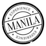 Manila stamp rubber grunge Stock Photography