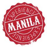 Manila stamp rubber grunge Royalty Free Stock Image