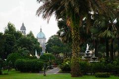 Manila storstads- Domkyrka-basilika, Manila, Filippinerna arkivfoto