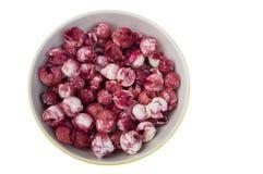 Manila tamarind fruit red pink sweet taste seed concept Stock Images