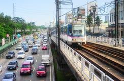 Manila trafik, Filippinerna fotografering för bildbyråer
