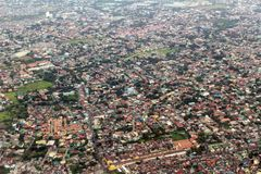 Manila view from airplane Royalty Free Stock Images