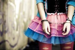 Manillas en chica joven Fotografía de archivo libre de regalías