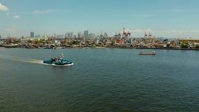 Manille, la capitale de la vue aérienne de Philippines banque de vidéos