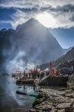 Manimahesh de Woonplaats van Lord Shiva stock foto's
