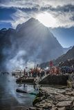 Manimahesh o domicílio de Lord Shiva fotos de stock