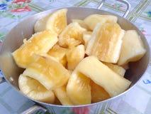 Manioca cucinata Fotografie Stock Libere da Diritti