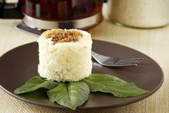 Ein Manioka-Kuchen Stockbild