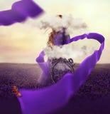 Manipolazione creativa variopinta della foto con una donna Immagini Stock