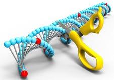 Manipolazione del DNA illustrazione vettoriale
