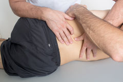 Manipolazione dorsale Fotografie Stock