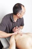 Manipulação cervical Imagem de Stock Royalty Free