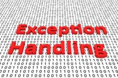 Manipulação de exceção Imagem de Stock