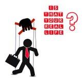Manipulación de la gente, cartel abstracto del negocio de la calidad estupenda stock de ilustración