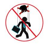 Manipulación de la gente, cartel abstracto del negocio de la calidad estupenda libre illustration