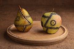 Manipulated fruit stock image