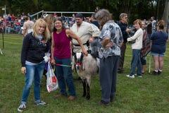 Manipulateur et chèvre avec des amis Images libres de droits