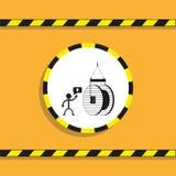 Manipulation de la grue de câble à haute tension Illustration de vecteur Photos stock
