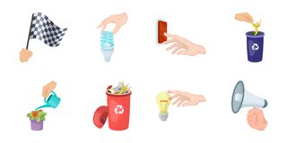 Manipulation by hands icons in set collection for design. Hand movement vector symbol stock web illustration. Manipulation by hands icons in set collection for Royalty Free Stock Photos