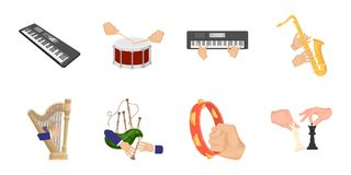 Manipulation by hands icons in set collection for design.. Hand movement vector symbol stock  illustration Royalty Free Stock Images