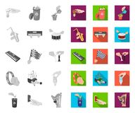 Manipulation by hands mono,flat icons in set collection for design. Hand movement vector symbol stock web illustration. Manipulation by hands mono,flat icons in stock illustration