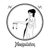 The manipulation sin Stock Photo