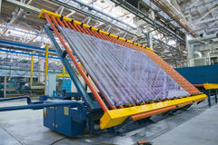Manipulator for heavy sheet glass Stock Image
