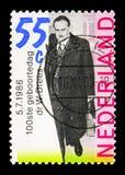 Manipulera Willem Drees (1886-1988) premiärminister, serie, circa 1986 Fotografering för Bildbyråer
