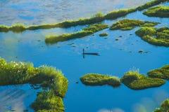 Manipur loktak lake aerial view
