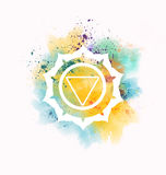 Manipura chakra. Colorful manipura chakra symbol illustration Royalty Free Stock Images
