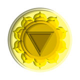 Manipura chakra icon Royalty Free Stock Photography