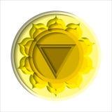Manipura chakra ikona Fotografia Royalty Free