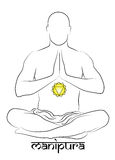 Manipura chakra representation Royalty Free Stock Image