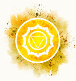 Manipura chakra symbol. Meditation mandala Royalty Free Stock Photos