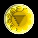 Manipura chakrasymbol Royaltyfria Bilder