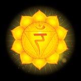 Manipura Glühende chakra Ikone Das Konzept von den chakras verwendet im Hinduismus, im Buddhismus und in Ayurveda Für Design, stock abbildung