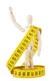 Maniquí con la cinta de medición Fotografía de archivo