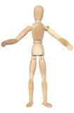 Maniquí de madera con los brazos abiertos. Fotografía de archivo libre de regalías