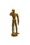 Maniquí de madera, marioneta, puntos su finger en usted Fotografía de archivo libre de regalías