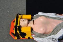 Maniquí del AED - muñeca médica Fotos de archivo