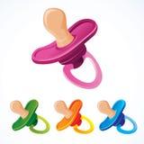 Maniquí del bebé en diversos colores Imagenes de archivo