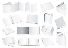 Maniquí del folleto del vector Imagen de archivo libre de regalías