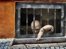 Maniquí en cárcel Foto de archivo