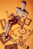 Maniquí en etiquetas del RFID Imagen de archivo